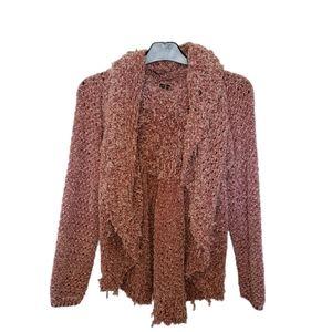 Hannah Frilly Knit Cardigan Size XL